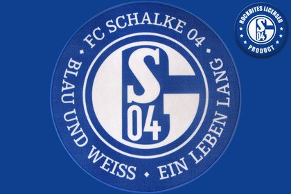 fu matte fc schalke 04 teppich blau wei 100 cm rund fu ball runder teppich teppich blau. Black Bedroom Furniture Sets. Home Design Ideas
