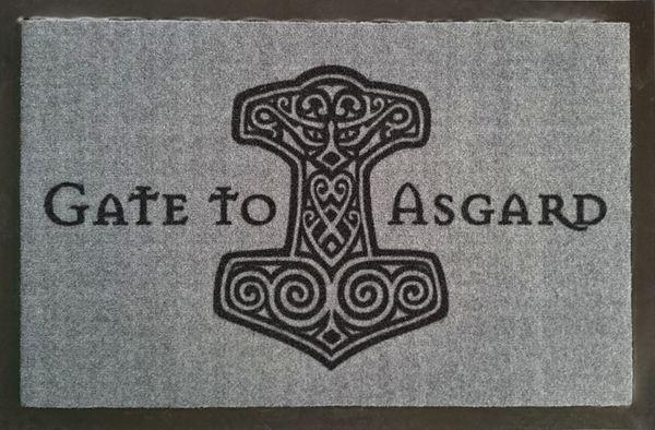 Fußmatte- Hammer Gate to Asgard Türmatte, sauberlaufmatte, schmutzmatte, fußabtreter