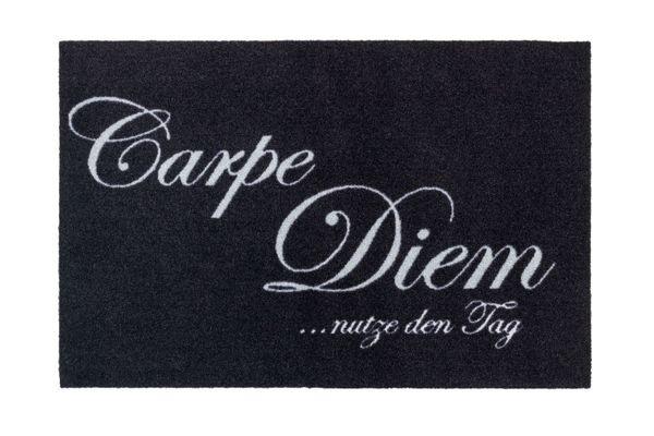 Carpe Diem Türmatte 60 x 40 cm sauberlauf schwarz
