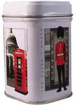 """Ahmad Tea- Sammlerdose """"London History"""" Kleine Dose zum Sammeln und weiter Aufbewahrung, als Eng. Afternoon Loser Schwarztee  001"""