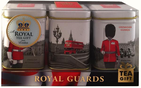 """Ahmad Tea- Sammlerdose """"Royal Guards"""" drei verschiedene Sorten kleine Dose zum Sammeln und weiter Aufbewahrung, Loser Schwarztee  – Bild 2"""