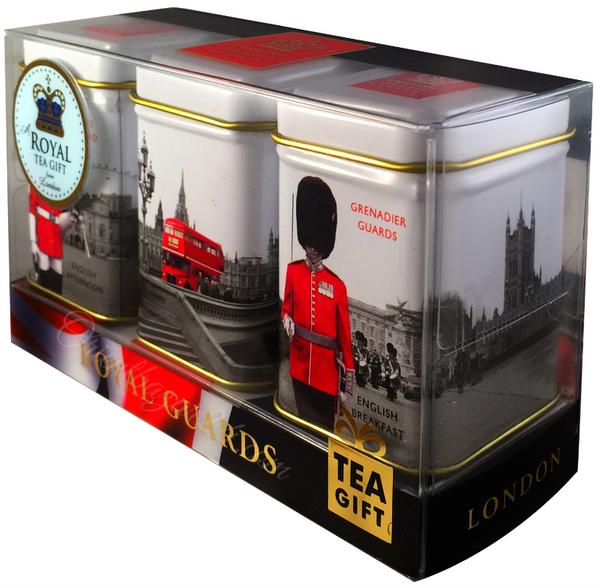 """Ahmad Tea- Sammlerdose """"Royal Guards"""" drei verschiedene Sorten kleine Dose zum Sammeln und weiter Aufbewahrung, Loser Schwarztee  – Bild 3"""