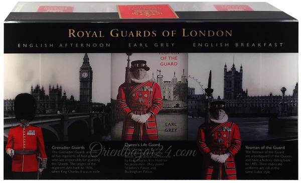 """Ahmad Tea- Sammlerdose """"Royal Guards"""" drei verschiedene Sorten kleine Dose zum Sammeln und weiter Aufbewahrung, Loser Schwarztee  – Bild 7"""
