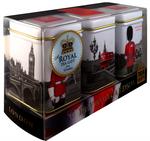 """Ahmad Tea- Sammlerdose """"Royal Guards"""" drei verschiedene Sorten kleine Dose zum Sammeln und weiter Aufbewahrung, Loser Schwarztee  001"""