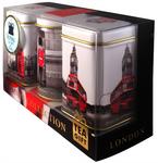"""Ahmad Tea- Sammlerdose """"London Collection"""" drei verschiedene Sorten kleine Dose zum Sammeln und weiter Aufbewahrung, Loser Schwarztee  001"""