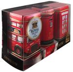 """Ahmad Tea- Sammlerdose """"City of London"""" drei verschiedene Sorten kleine Dose zum Sammeln und weiter Aufbewahrung, Loser Schwarztee  001"""