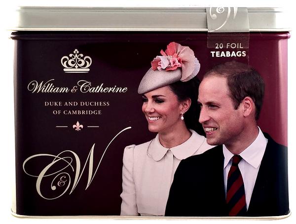 Ahmad Tea- Sammeldosen William & Catherine Duke and Duchess of Cambridge mit 20 Tee- Beuteln