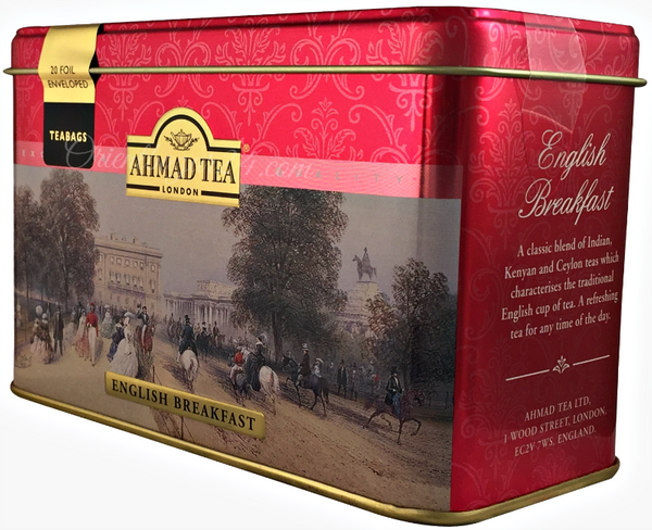 Ahmad Tea- London in Rot mit Londoner Motive aus 20 English Breakfast Schwarzer Beutel- Tee – Bild 3