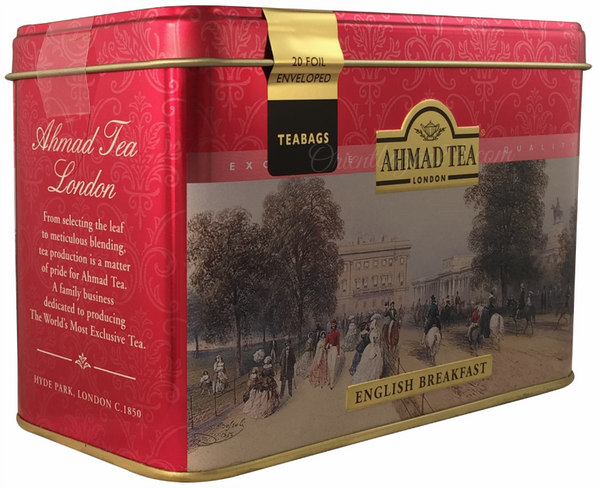 Ahmad Tea- London in Rot mit Londoner Motive aus 20 English Breakfast Schwarzer Beutel- Tee – Bild 2