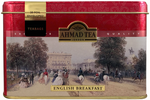 Ahmad Tea- London in Rot mit Londoner Motive aus 20 English Breakfast Schwarzer Beutel- Tee