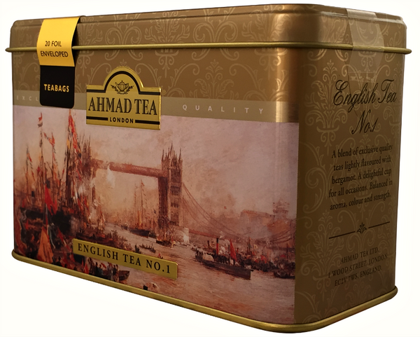 Ahmad Tea- London in Silber mit Londoner Motive aus 20 English Tea No.1 Schwarzer Beutel- Tee – Bild 2