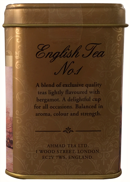 Ahmad Tea- London in Silber mit Londoner Motive aus 20 English Tea No.1 Schwarzer Beutel- Tee – Bild 4