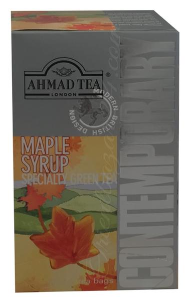 Ahmad Tea- Maple Syrup Grüner Beutel-Tee 20 x á1,8 Gramm  – Bild 1