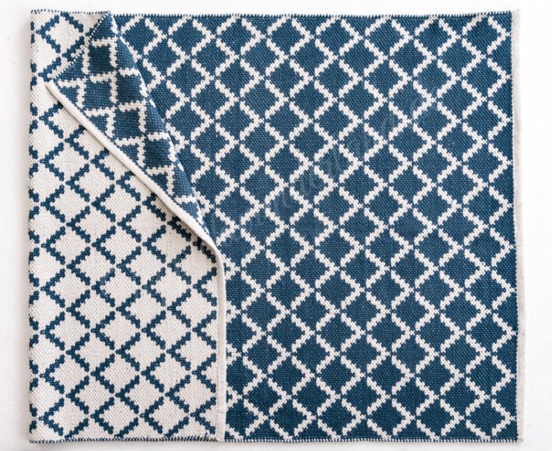 Schöner Wohnen Picknick Web Teppich Dreieck Blau