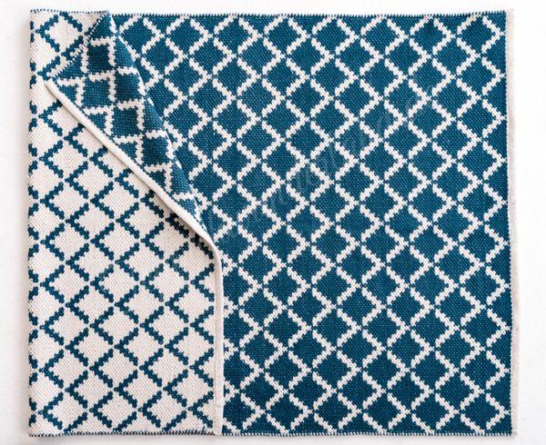 Schöner-Wohnen Picknick Web-Teppich Dreieck Blau