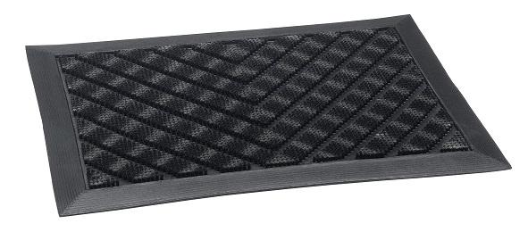 Fussmatte- Motiv V-Power anthracite 65x45cm, Innen/Out-Matte, Sauberlaufmatte, Türmatte