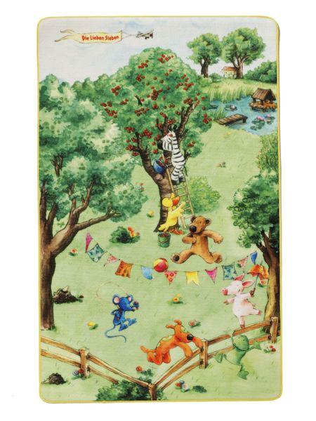 Spielteppich- Die Lieben Sieben in Grün Kinderteppich