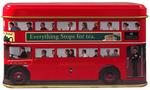 """Ahmad Tea- Sammlerdose """"Doppeldecker-Bus /Routermaste- Bus"""" Kleine Dose zum Sammeln und weiter Aufbewahrung, als Eng. Breakfast  Tee-Beutel 001"""