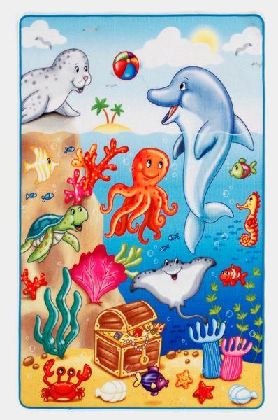 Kinderteppich- Lovely Kids mit Tiere unter Wasser , Spielteppich