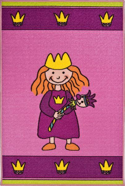 Kinderteppich- Nici Prinzessin Teppich 080 x 120 cm in Pink