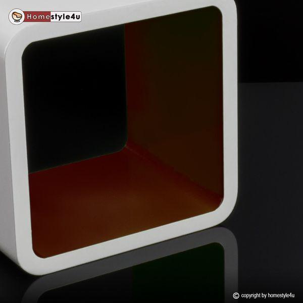 Cube Design Retro Wandregal CD Regal bunt Bücherregal Cubes Würfel Braun