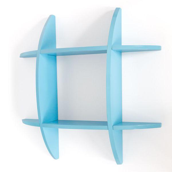 Wandregal Cube Wandboard Retro Regal Bücherregal Regale blau