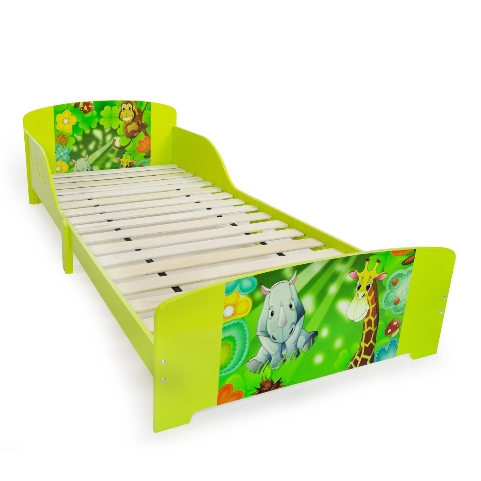 kinderbett jugendbett juniorbett dschungel kinder bett 90 x 200 kinderzimmer. Black Bedroom Furniture Sets. Home Design Ideas
