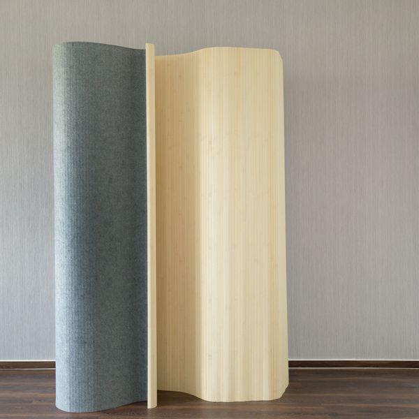 Paravent Raumteiler Trennwand Bambus Sichtschutz spanische Wand natur