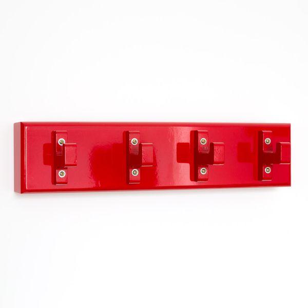 Schlüsselbrett Schlüsselkasten Wandhaken Garderobenhaken Kleiderhaken rot