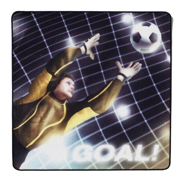 Kinderteppich-100 x 100 cm Rund Goal Torwart, Fußball-Teppich