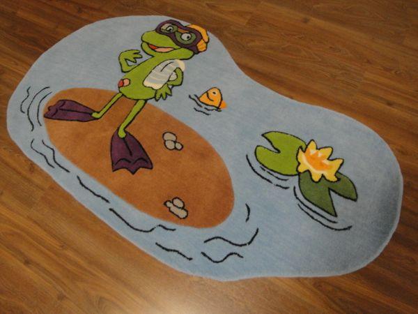 Kinderteppich- Quaker, der Großmaul frosch 070 x 140 cm Gustav und seine Freunde