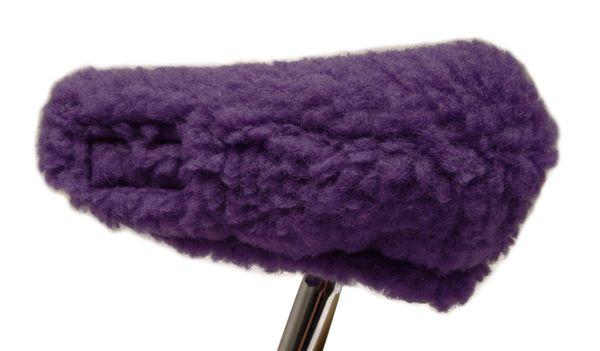 Fahrradsattelbezug Wolle lila 20/30 cm