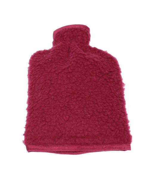 Wärmflaschenbezug Wolle bordeaux 20/30 cm