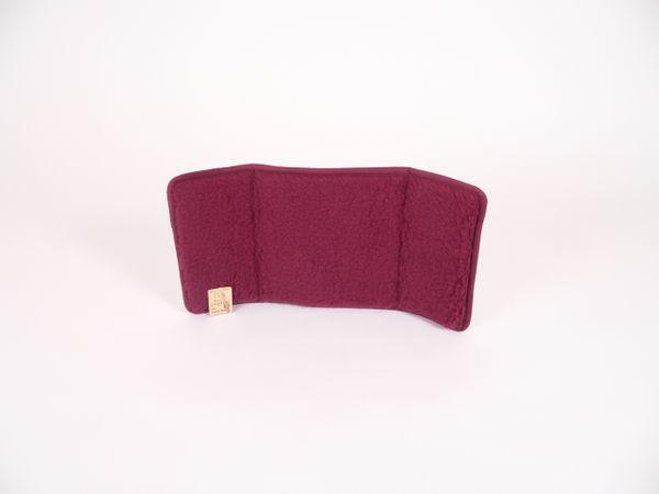 3-tlg. Rückenkissen Wolle bordeaux 30/60 cm