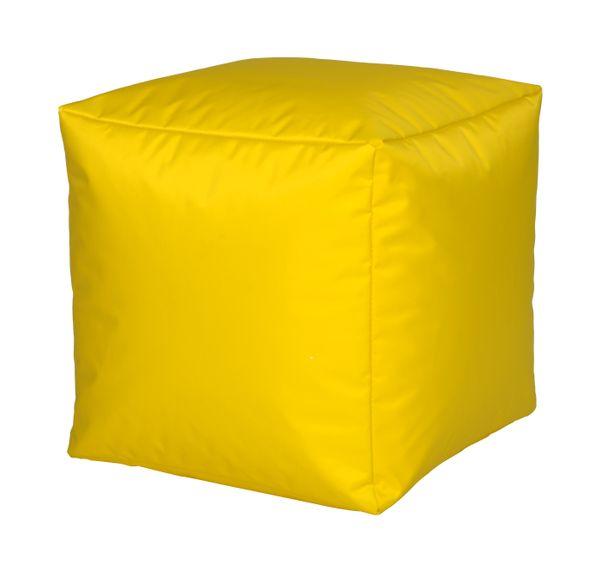 Sitzwürfel Nylon gelb 40/40/40 cm