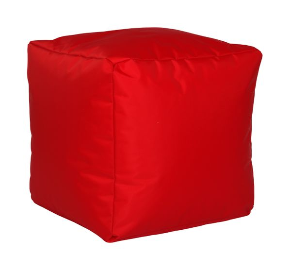 Sitzwürfel Nylon rot 40/40/40 cm