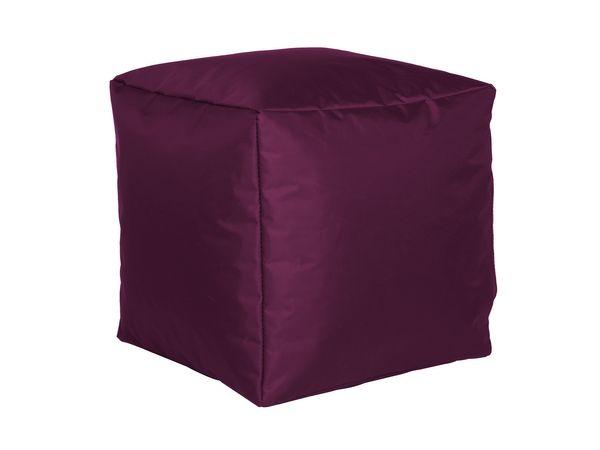 Sitzwürfel Nylon aubergine 40/40/40 cm