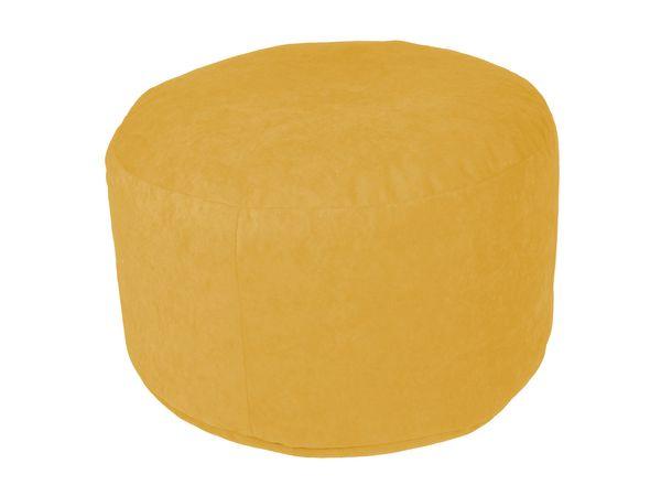 Pouf Microvelour gelb Ø47/34 cm