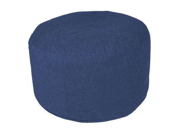 Pouf Microvelour blau Ø47/34 cm