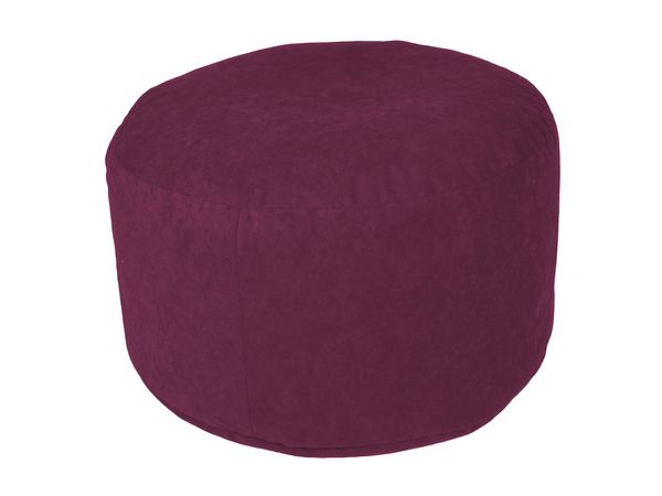 Pouf Microvelour brombeer Ø47/34 cm