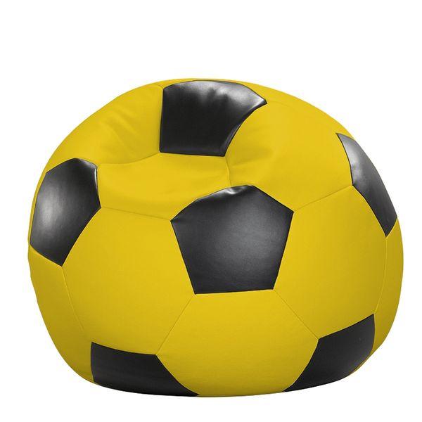 Fußball-Sitzball Kunstleder gelb/schwarz Ø 80 cm