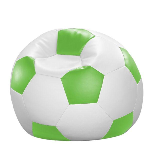 Fußball-Sitzball Kunstleder weiß/grün Ø 80 cm