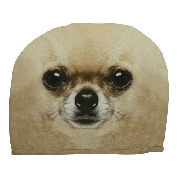 Kannen wärmer- Chihuahua Beig 27x33 cm für Teewärmer, wärmer aus Stoff 100% Baumwolle