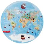 """Kinderteppich- """"Lovely Kids"""" Unsere Erde Weltkarte- Spielteppich, Kinderzimmer 001"""