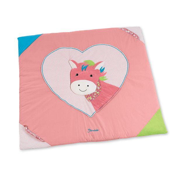 """Sterntaler- Krabbeldecke """"Pferd Peggy"""" ca. 100 x 100 cm groß in Pink"""