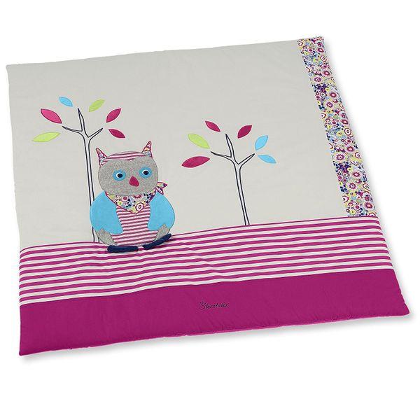 "Sterntaler- Krabbeldecke ""Eule Emilie"" ca. 100 x 100 cm groß in Pink"