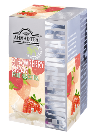 Ahmad Tea- Strawberry Cream Frucht Schwarzer Beutel-Tee 20 x á1,8 Gramm