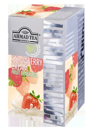 Ahmad Tea- Strawberry Cream Frucht Schwarzer Beutel-Tee 20 x á1,8 Gramm