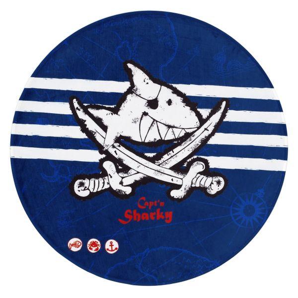 """Kinderteppich- Der Pirat """"Captin Sharky"""" und seine Freunde 100 cm Rund, Kinderzimmer"""