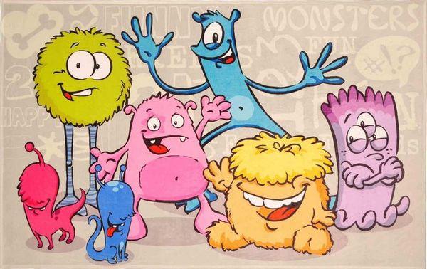 """Kinderteppich- """"Lovely Kids""""  Funny Monsters in Zwei Größen, Spielteppich, Kinderzimmer"""